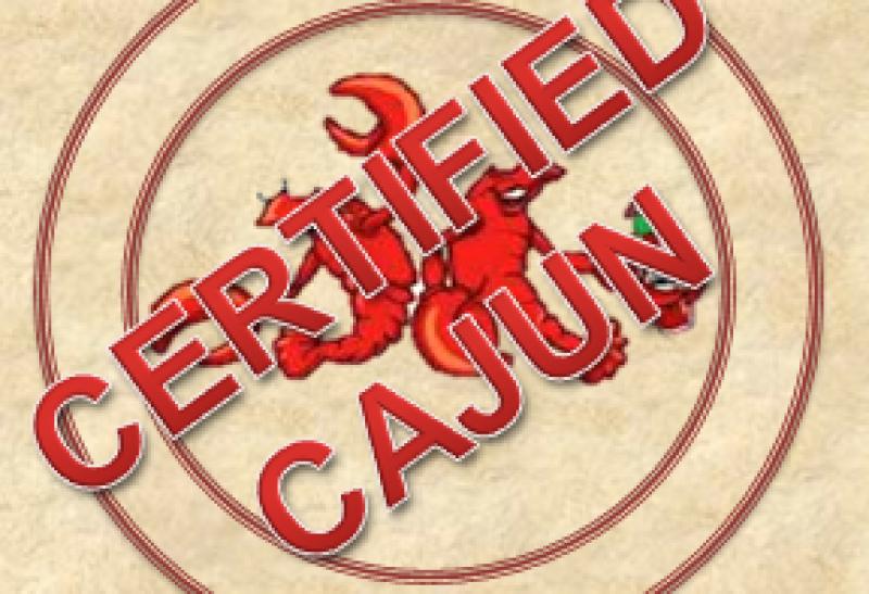 Certified Cajun plate logo