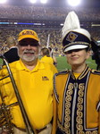 James Kendrick next a LSU Band Member